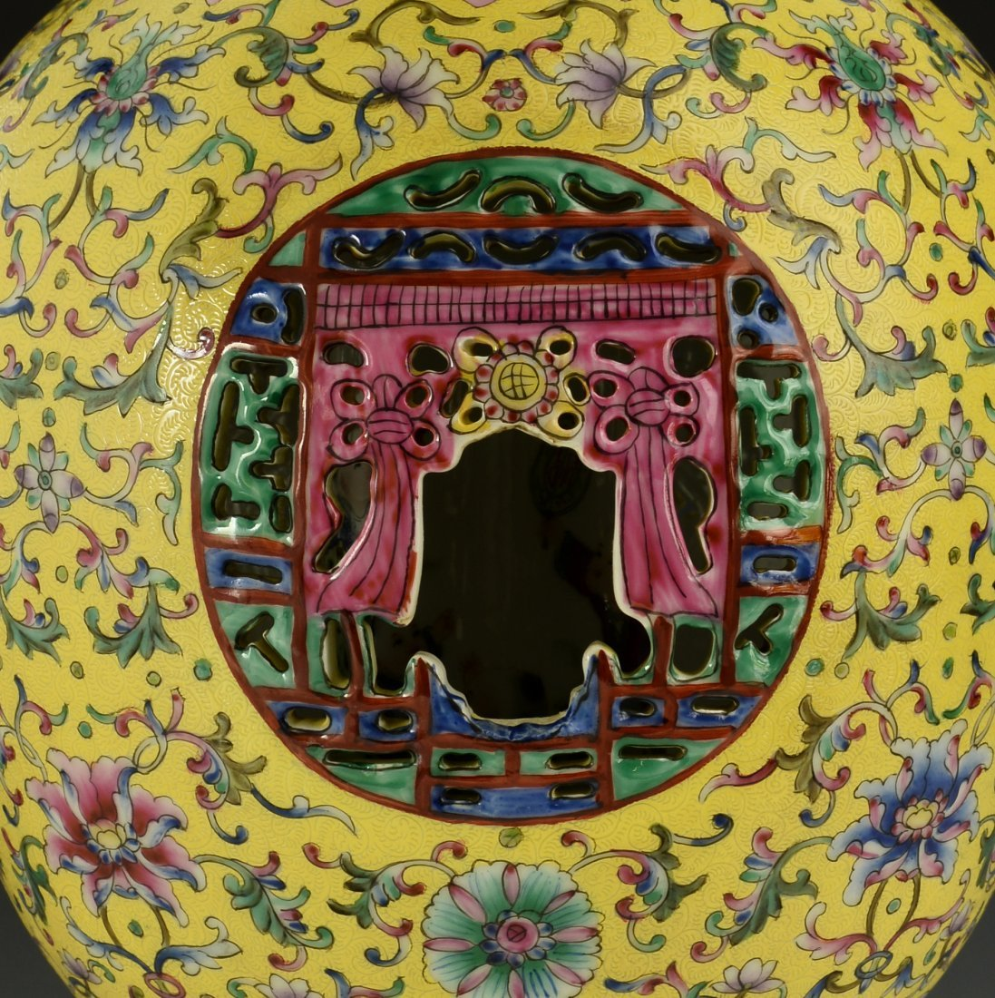 Chinese Famille Rose Vase - 10