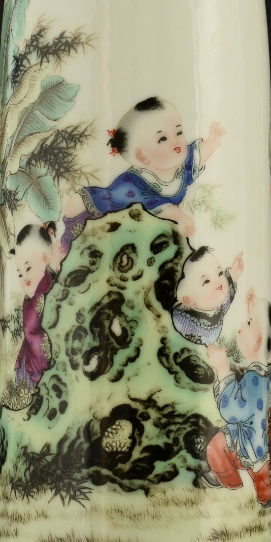 Chinese Famille Rose Vase - 9