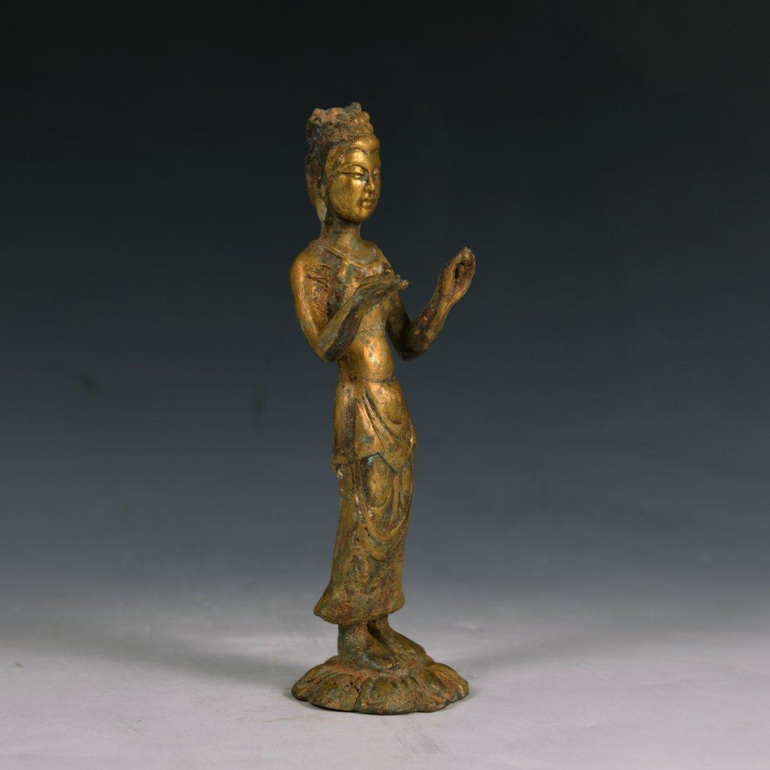 Chinese Gilt Fronze Buddha Figure