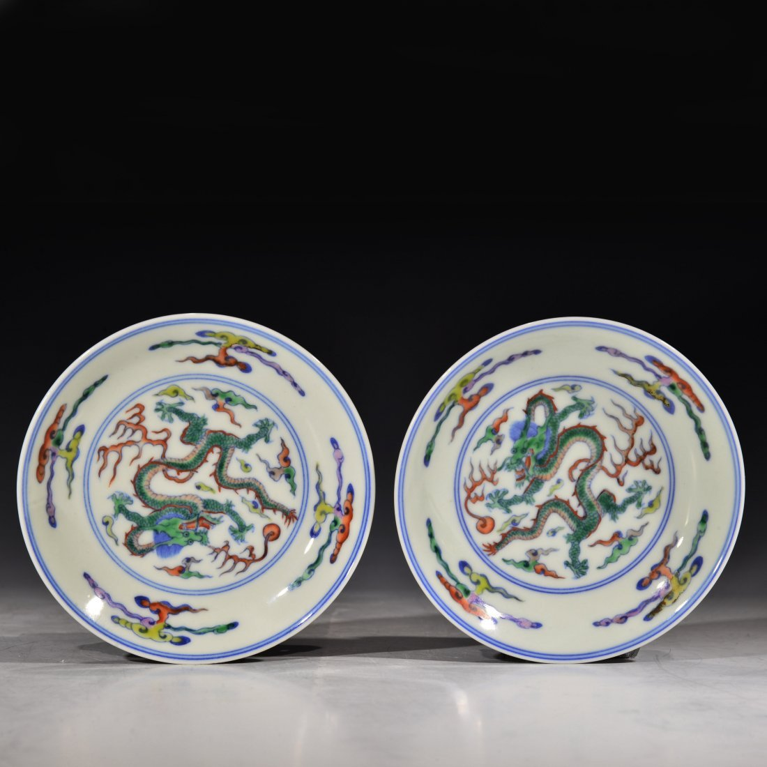 A Pair of Chinese Dou Cai Plate