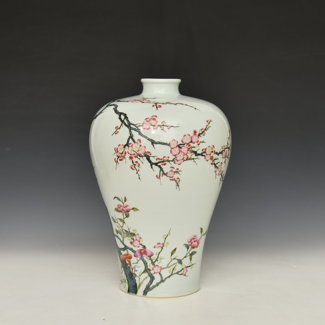 Chinese Famile Rose Mei Ping Vase - 3