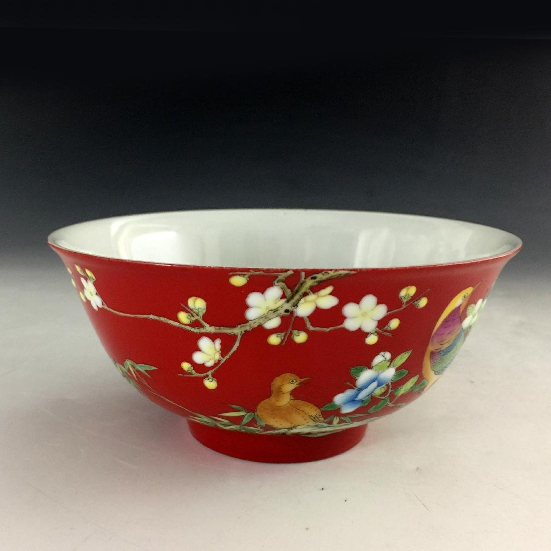 Chinese Kuang Xi Famile Rose Bowl