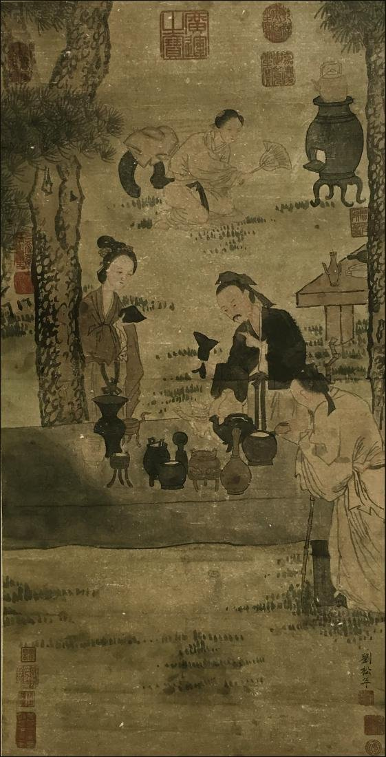 Liu Songnian(1155-1218), Figures Under the Pine - 5