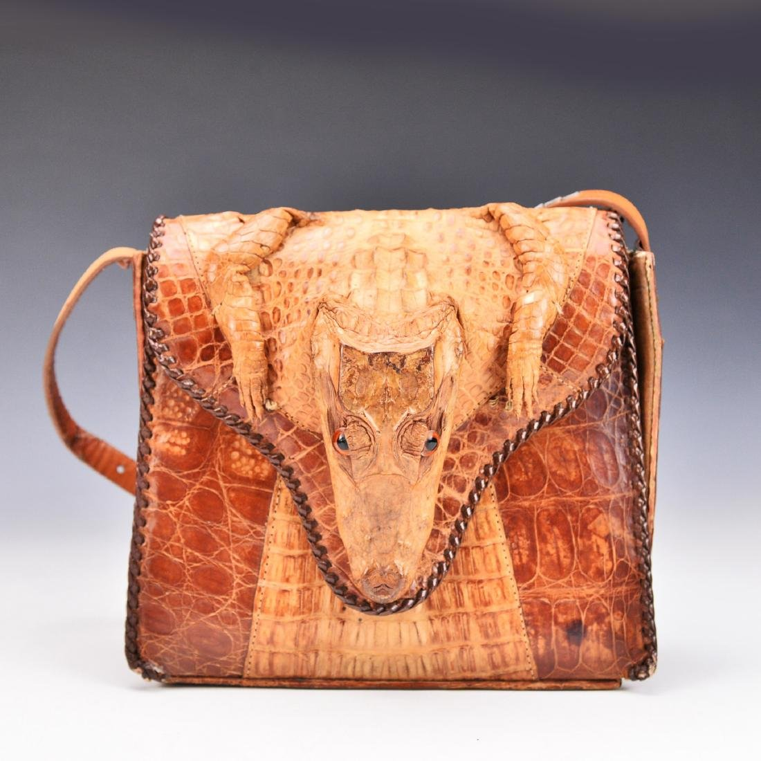 A Baby Crocodile Leather Bag