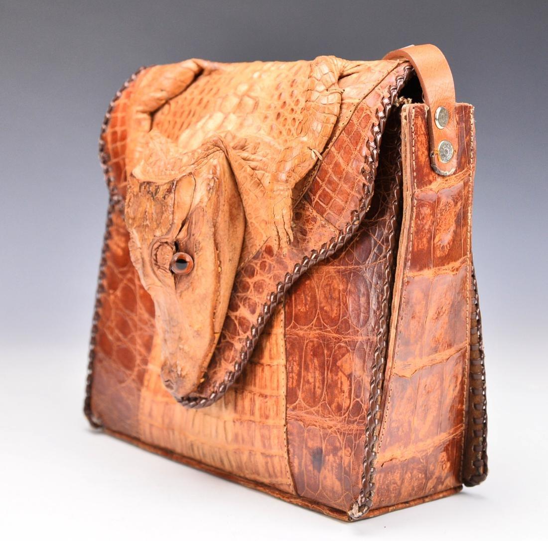 A Baby Crocodile Leather Bag - 2