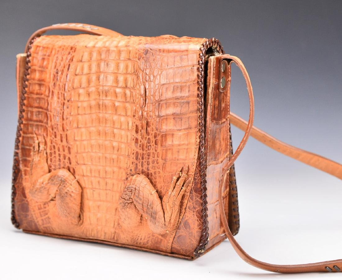 A Baby Crocodile Leather Bag - 4