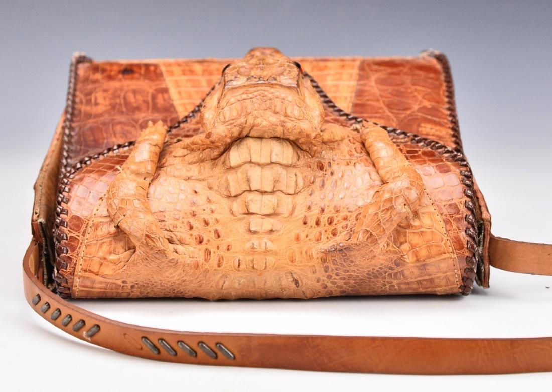 A Baby Crocodile Leather Bag - 5