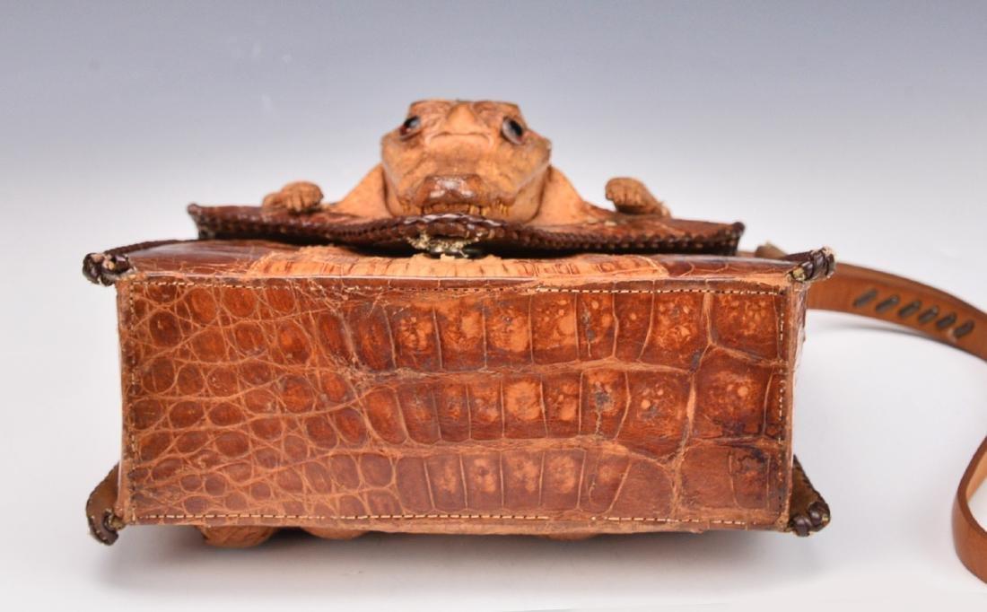 A Baby Crocodile Leather Bag - 6