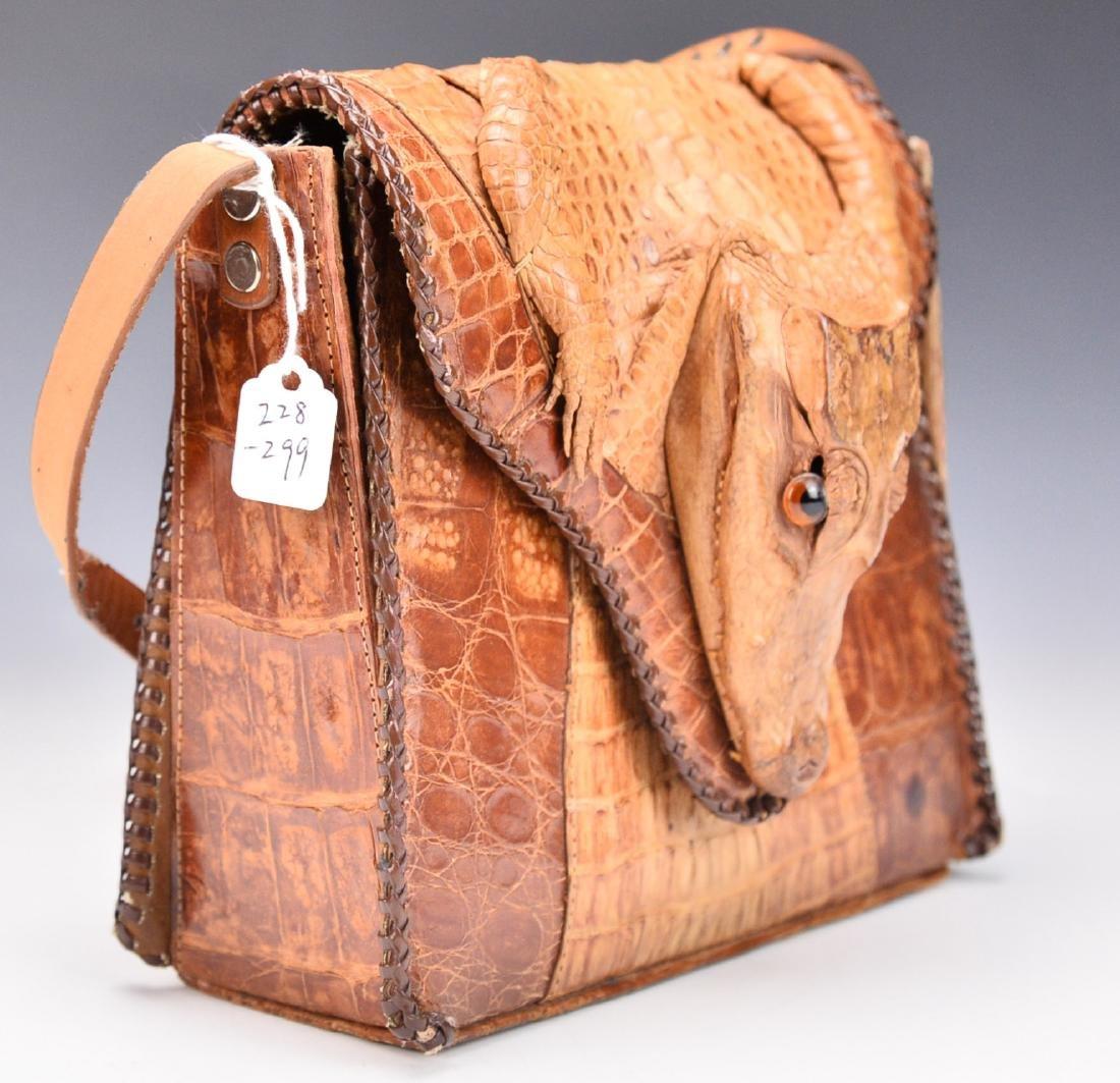 A Baby Crocodile Leather Bag - 7