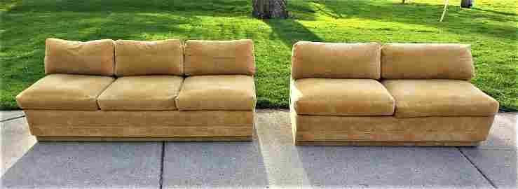 Milo Baughman  sofa and love seat set MCM