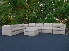 Milo Baughman sectional sofa set with ottoman