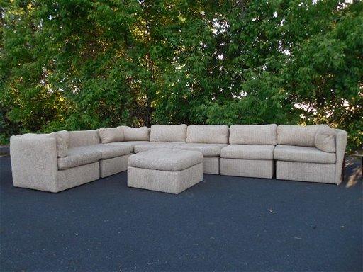 Marvelous Milo Baughman Sectional Sofa Set With Ottoman Feb 16 2019 Creativecarmelina Interior Chair Design Creativecarmelinacom