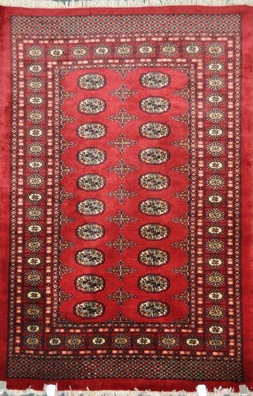 Hand made 100% wool Bukhara rug