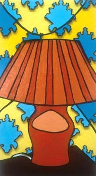 1: Melanie Russell: Orange Lamp