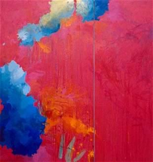 Alex Roberts: Untitled (Rose Madder/ Scarlet Lake an