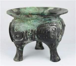 A Bronze Triport from Xi Zhou Period
