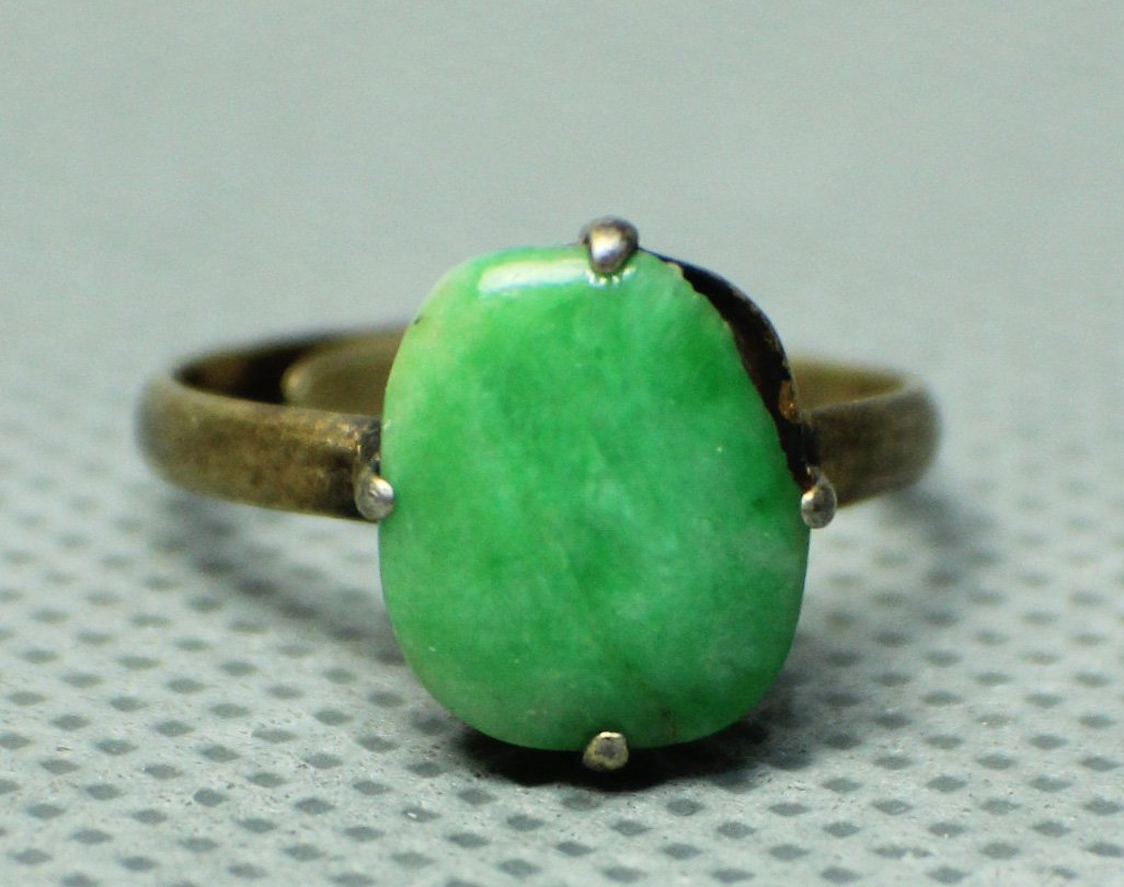 A Natural Jadeite Ring from Qing