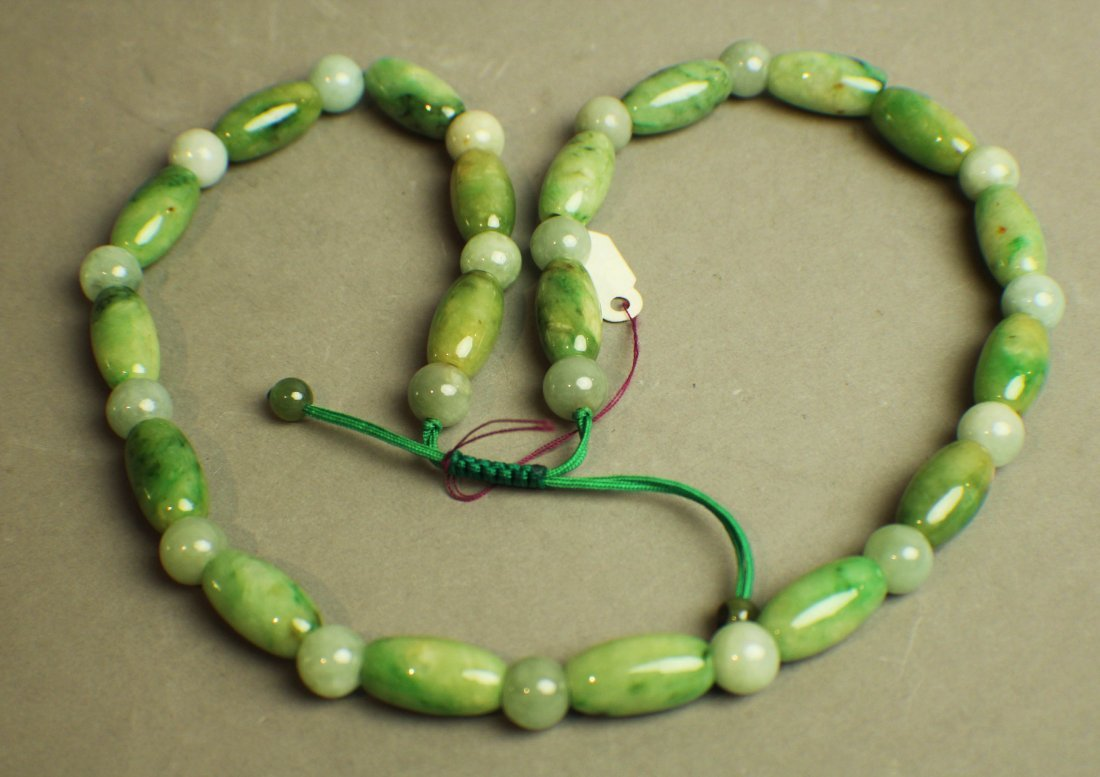 A Natural Jadeite Necklace