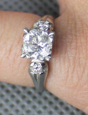 A Diamond White Gold Ring