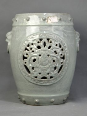 A Celadon Porcelain Stool, Ming Dynasty