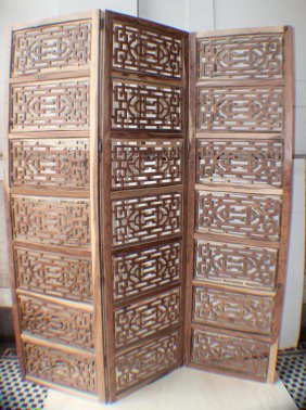 An Open-work Screens Made Of Huang Huali From Qing