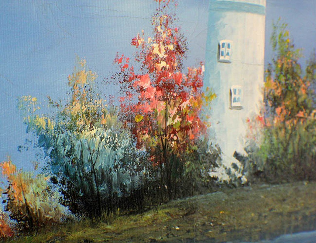 An Oil Painting of Lighthouse by W.Amion - 3