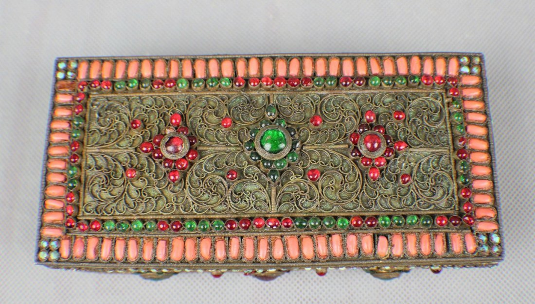 A Copper-box Decorated with Coral and Turquoise - 2