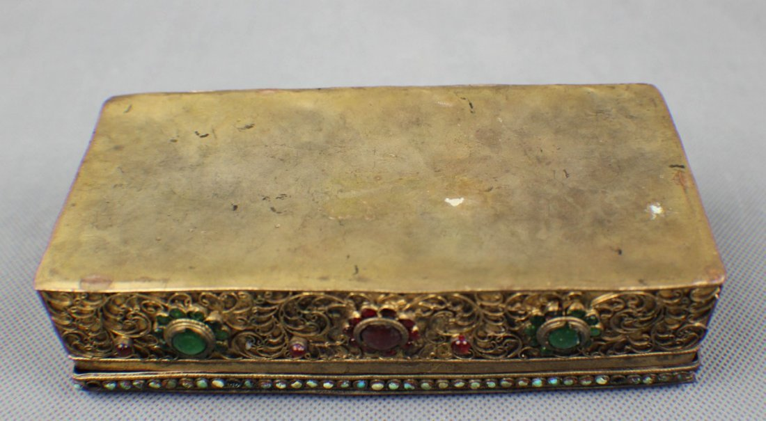 A Copper-box Decorated with Coral and Turquoise - 7