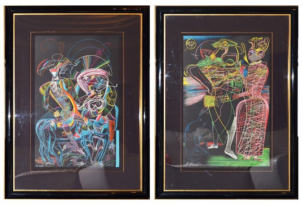 Mihail CHEMIAKIN (b.1943) lot of pair lithographs