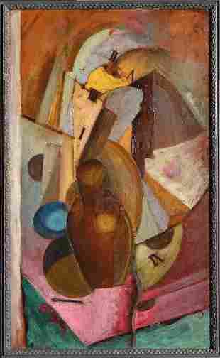 Cubism, ILEGIBLY signed, 1925