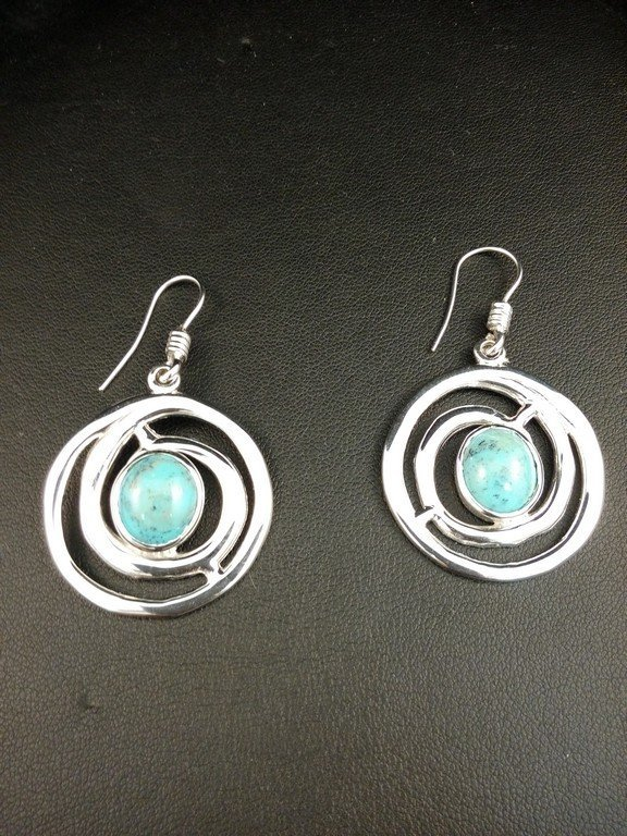 Sterling Silver with Turquoise Earrings