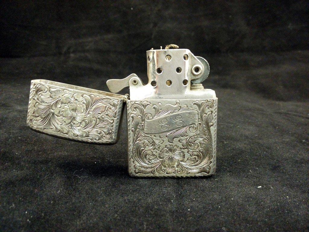 Vintage Zippo Lighter, Sterling Silver, 1959.