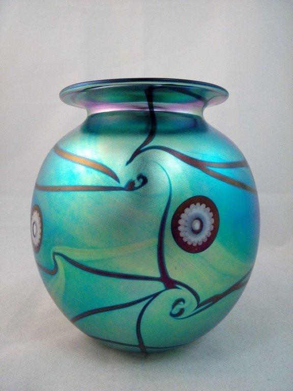 Eicholt Art Glass Large Vase