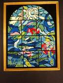 Chagall Needlepoint Canvas Stained Glass Window Reuben