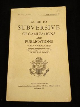 Guide To Subversive Organization And Publications