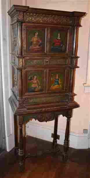 Impressive Italian Style Hand Painted Cabinet