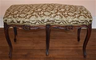 Fine Louis XV Walnut French Bench