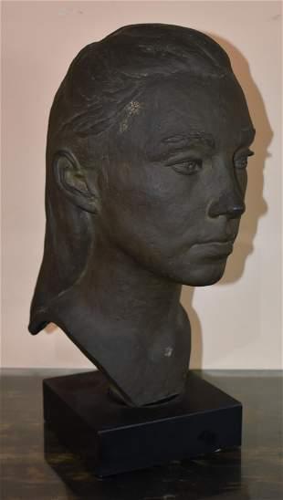 Bronze Bust of Karen Kennerly by Eleanor Beville