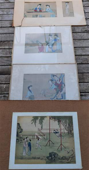 Four 19th Century Chinese Watercolors