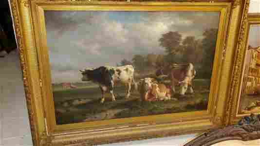 Guillaume Wintz (1823-1899) Cows In Pasture
