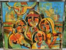 Mary Morez (1946-2004),  Navajo Family,