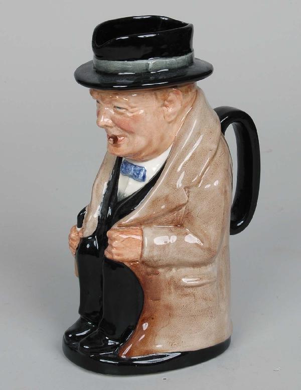 2: Royal Doulton Winston Churchill Character Pitcher