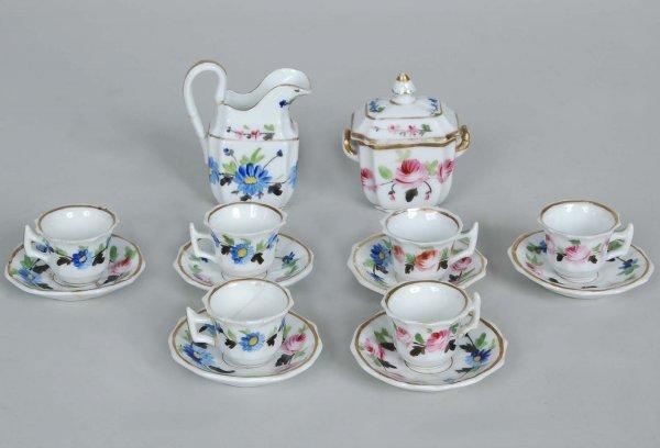 3: 19th C. Porcelain Dolls Tea Service