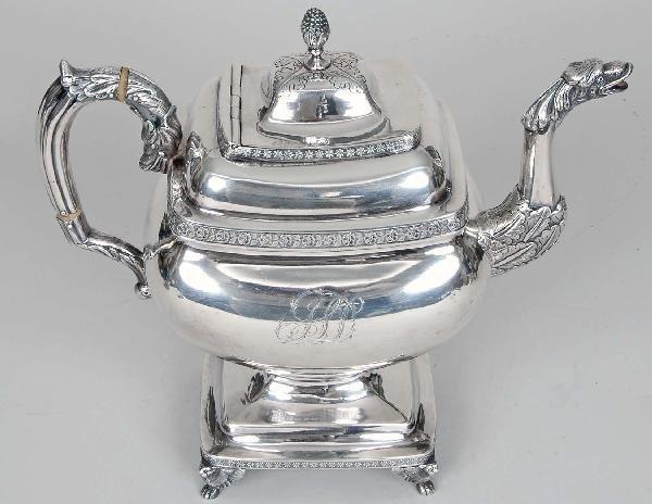5: Baltimore Classical Coin Silver Coffeepot, 37 T.O.