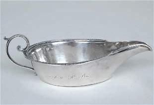 Philadelphia Coin Silver Pap Boat, R & W. Wilson