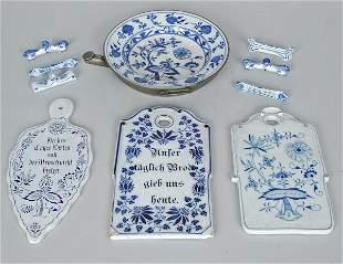 Lot Of Blue Onion Meissen Porcelain