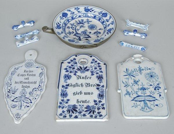 9: Lot Of Blue Onion Meissen Porcelain