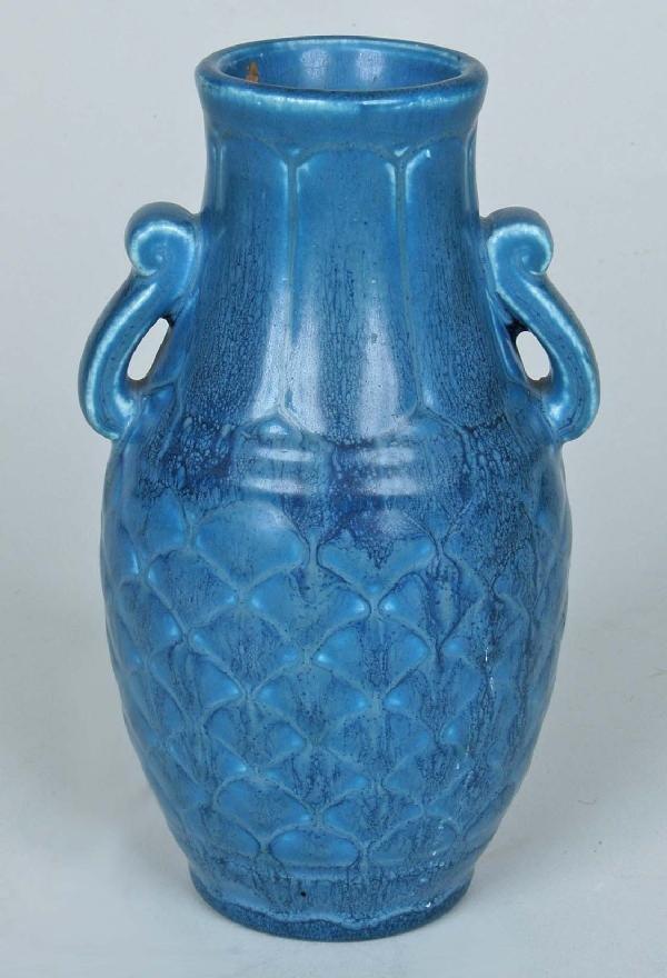 11: Rookwood Vase, Blue Crystalline Glaze, 1929.