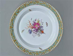 Fine 19th C. KPM Reticulated Floral Charger