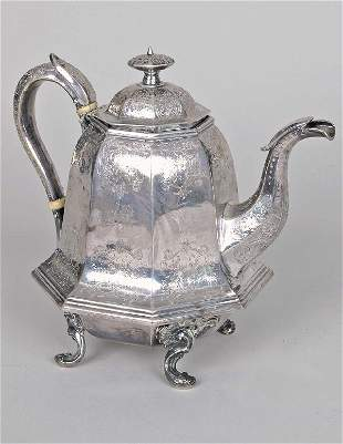 J. & I. Cox New York Coin Silver Teapot